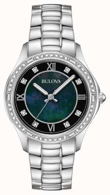 Bulova Women's Crystal Set Stainless Steel Watch 96L266