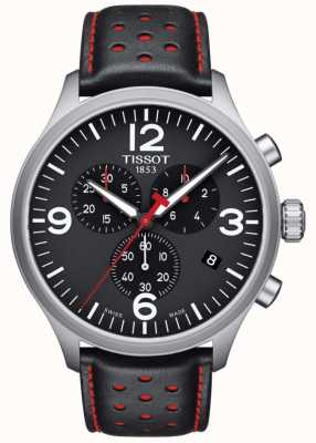 Tissot Mens Chrono XL Black Leather Strap Black Dial T1166171605702