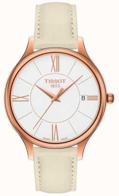 Tissot Womens Bella Ora Grey Leather Strap T1032103601800
