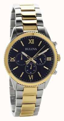 Bulova Women's Two Tone Chronograph Watch 98A220