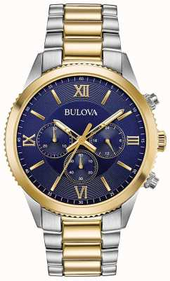 Bulova Women's Chronograph Watch | Stainless Steel Strap | 98A220