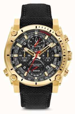 Bulova Men's Sport Champlain Precisionist Black And Gold Watch 97B178