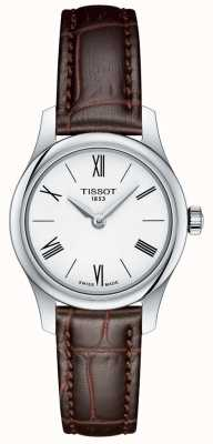 Tissot Womens Tradition 5.5 Lady Watch Brown Leather Strap T0630091601800