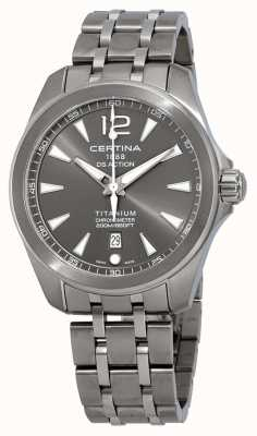 Certina Mens DS Action Watch Grey Dial Titanium Bracelet C0328514408700