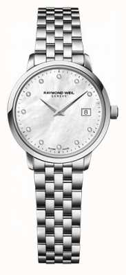 Raymond Weil Womens Freelancer Moher Of Pearl Dial Diamond Watch 5626-ST-97081