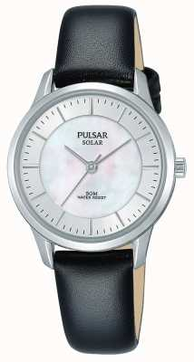 Pulsar Ladies Stainless Steel Case Solar Mother Of Pearl Dial PY5043X1