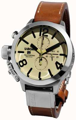U-Boat Classico 45 Tungsteno CAS2/A Automatic Brown Leather Strap 7431/A