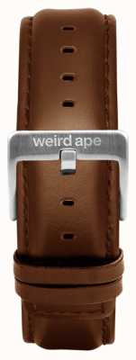 Weird Ape Oak Leather 20mm Strap Silver Buckle ST01-000099