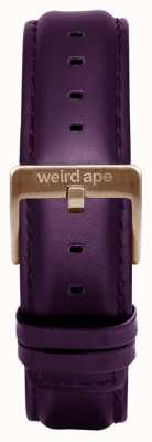 Weird Ape Aubergine Leather 16mm Strap Chocolate Buckle ST01-000068