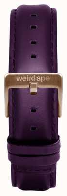 Weird Ape Purpleleather 16mm Strap Rose Gold Buckle ST01-000036