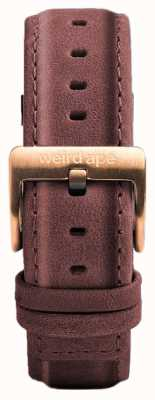 Weird Ape Pastel Pink Leather 16mm Strap Rose Gold Buckle ST01-000033