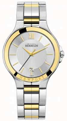 Michel Herbelin Mens Newport Royale Two Tone Silver And Gold Bracelet 12298/BT11