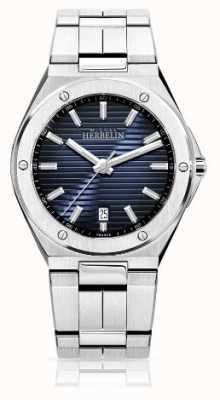 Michel Herbelin Mens Stainless Steel Watch Black Dial 12245/B15