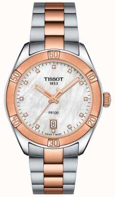 Tissot Womens PR100 Sport Chic Two Tone Bracelet Watch T1019102211600