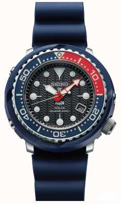 Seiko Mens Tuna Blue PADI Solar Prospex Divers Watch SNE499P1