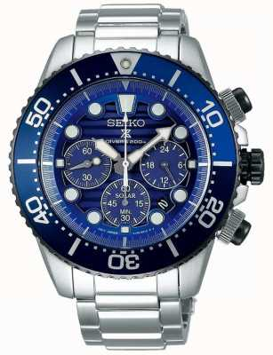 Seiko Mens Save The Ocean Special Edition Steel Solar Prospex SSC675P1