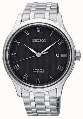 Seiko Presage Mens Automatic Black Dial Stainless Steel Bracelet SRPC81J1