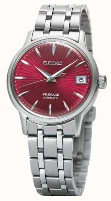 Seiko Presage Womens Automatic Watch Red Dial Stainless Steel SRP853J1