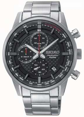 Seiko Mens Urban Sport Chronograph Stainless Steel Bracelet SSB313P1