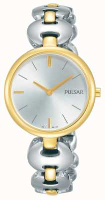 Pulsar Womens Two Tone Silver Gold Bracelet Watch PM2264X1