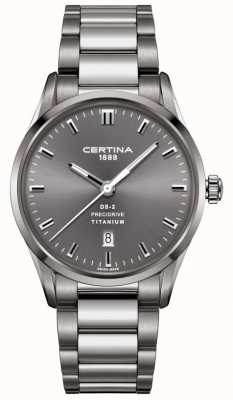 Certina Mens DS-2 Precidrive Grey Titanium Steel Watch C0244104408120