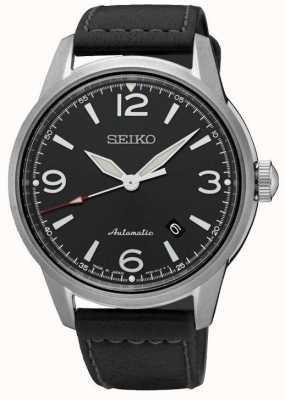 Seiko Mens Presage Automatic Black Strap Black Dial Watch SRPB07J1