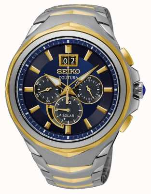 Seiko Coutura Two Tone Stainless Steel Bracelet Blue Dial Watch SSC642P1
