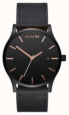 MVMT Mens Classic Leather MM01-BBRGL