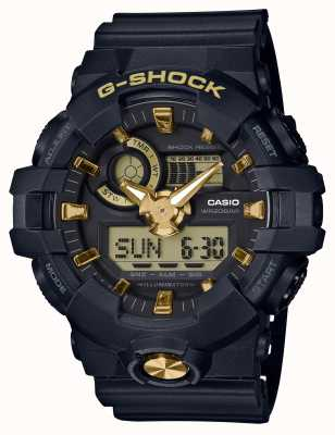 Casio G-Shock Analogue Digital Rubber Gold Watch GA-710B-1A9ER