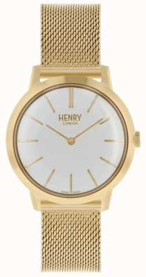 Henry London Iconic Womens Watch | Stainless Steel Gold Mesh Bracelet | HL34-M-0232