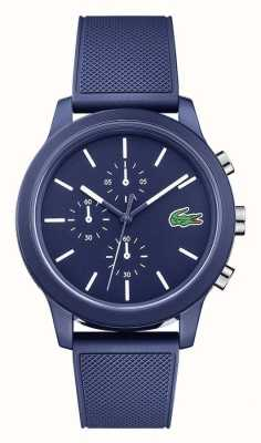 Lacoste 12.12 Mens Blue Silicone Strap Blue Dial 2010970