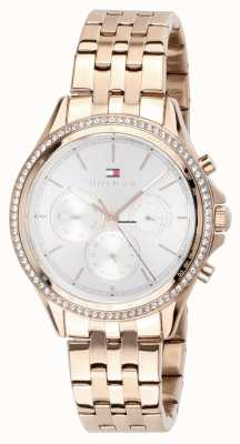 Tommy Hilfiger Womens Rose Gold Plated Crystal Set Multifunction 1781978