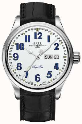 Ball Watch Company Trainmaster Royal Blue White Dial Date & Day Display NM1058D-LL9J-WH