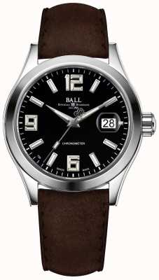 Ball Watch Company Engineer II Pioneer Black Dial Brown Leather Strap NM2026C-L4CAJ-BK