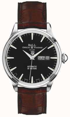 Ball Watch Company Trainmaster Eternity Black Dial Day & Date Display NM2080D-LJ-BK