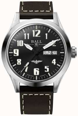 Ball Watch Company Engineer III Silver Star Brown Leather Strap Blue Dial NM2182C-L3J-BE