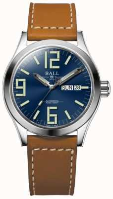 Ball Watch Company Engineer II Genesis Blue Dial Tan Leather Strap Day & Date NM2026C-LBR7-BE