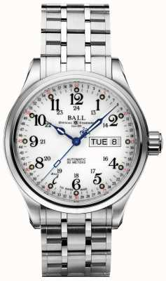 Ball Watch Company Company 60 Seconds White Dial Day & Date Display NM1058D-S3J-WH