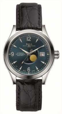 Ball Watch Company Ohio Moon Phase Automatic Date Display Leather Strap NM2082C-LJ-BE