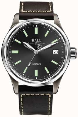 Ball Watch Company Trainmaster Titanium Automatic Black Dial  Date Display NM1038D-L5J-BK