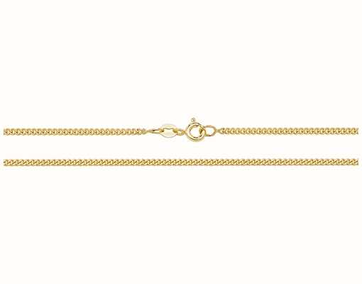 "Treasure House 9k Yellow Gold Close Curb Chain 16"" Ch163/16"
