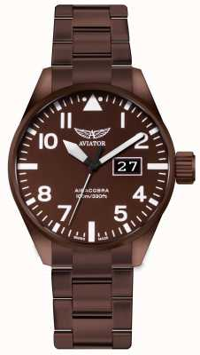 Aviator | Mens | Airacobra P42 | Bronze Coated Steel Watch | V.1.22.8.151.5