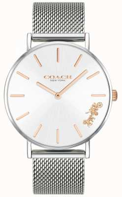 Coach Womens Perry Silver Mesh Bracelet Watch 14503124