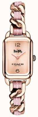Coach Womens Ludlow Rose Gold And Pink Bracelet Watch 14502844
