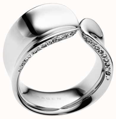 Skagen Stainless Steel Crystal Ring Small SKJ0098040505