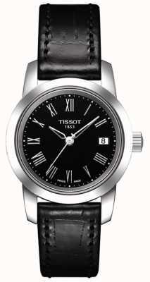 Tissot Womens Classic Black Leather Strap Black Dial T0332101605300