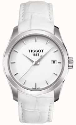 Tissot Womens Couturier White Leather White Dial T0352101601100