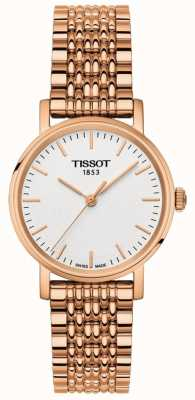Tissot Womens Everytime Rose Gold Plated Grey Dial T1092103303100