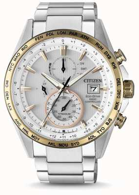 Citizen Mens Radio Controlled Eco-Drive World Timer Stainless Steel AT8156-87A