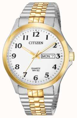 Citizen Mens Quartz Two Tone Stainless Steel Expanding Bracelet Date BF5004-93A